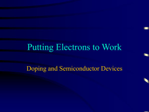 Putting Electrons to Work Doping and Semiconductor Devices