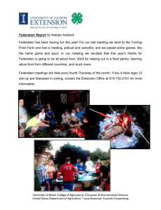 Federation has been having fun this year! For our last... Point Farm and had a meeting, potluck and campfire, and... Federation Report