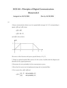ECE 614 – Principles of Digital Communications Homework 6  
