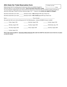 2011 State Fair Ticket Reservation Form