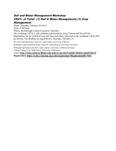Soil and Water Management Workshop Management