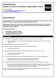 BHP guide to... Export finance