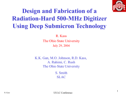 Design and Fabrication of 500MHz Digitizer
