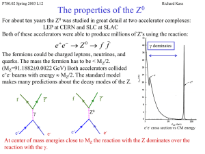 Lecture 12, Testing the Standard Model (ppt)