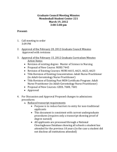 Approval of the March 19, 2012 Graduate Council Minutes