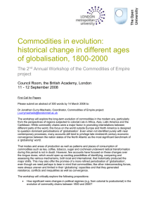 Commodities in evolution workshop programme