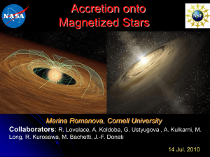 Accretion onto Magnetized Stars