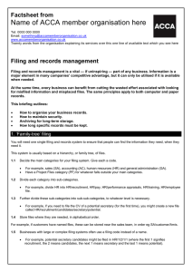 ACCA guide to... Filing and records management