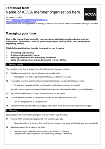 ACCA guide to... managing your time