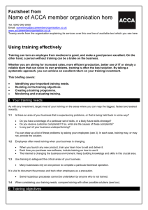 ACCA guide to... using training effectively
