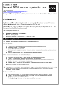 ACCA guide to... Credit control