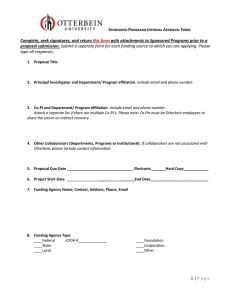 Proposal Approval Form
