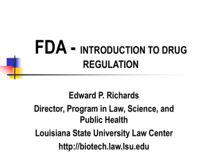 Introduction to Drug Regulation