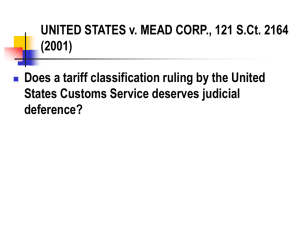 UNITED STATES v. MEAD CORP., 121 S.Ct. 2164 (2001)