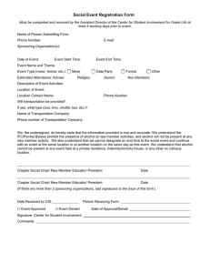 Social Event Registration Form
