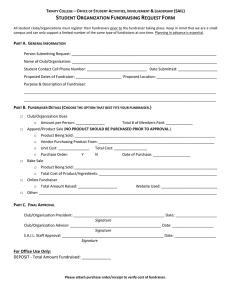 Fundraiser Request Form