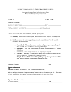 Grossman Application