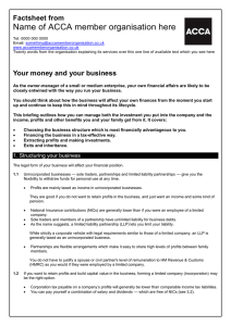 ACCA guide to... Your money and your business