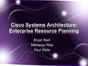 Cisco Systems Architecture ERP