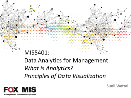 MIS5401: Data Analytics for Management What is Analytics? Principles of Data Visualization