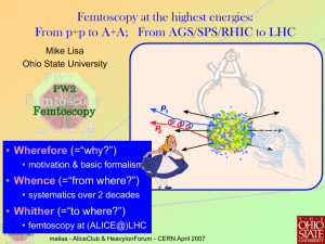 Femtoscopy at the highest energies: Wherefore Whence