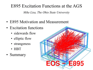 E895 Excitation Functions at the AGS • E895 Motivation and Measurement