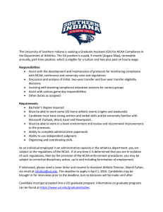 The University of Southern Indiana is seeking a Graduate Assistant... the Department of Athletics. The GA position is a paid,...
