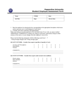 Student Evaluation Form (Example 2)