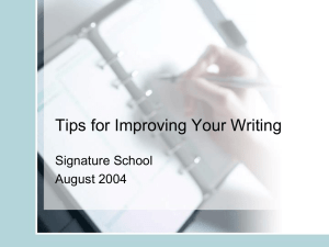 Tips for Improving Writing (PowerPoint)