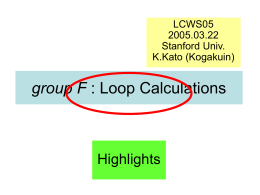 Loop calculations