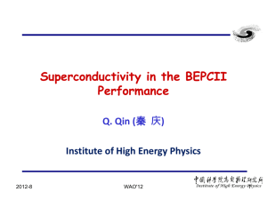 Qin_Superconductivity in the BEPCII Performance