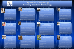 possible careers in Psychology