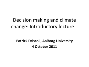 Decision making and climate change intro lecture