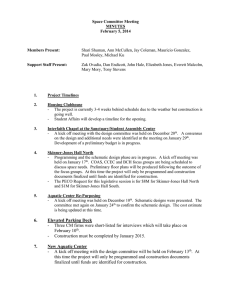 Space Committee Meeting MINUTES February 5, 2014