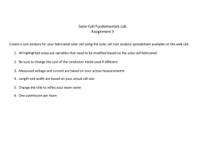 Solar Cell Fundamentals Lab Assignment 5