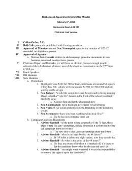 E&A Minutes 2-6-12