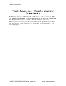 – School of Visual and Theatre (Launceston) Performing Arts