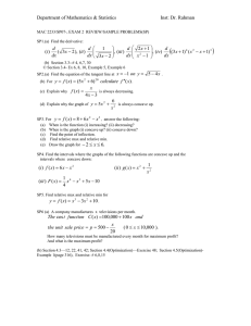 Practice Problems/ Review for Exam 2