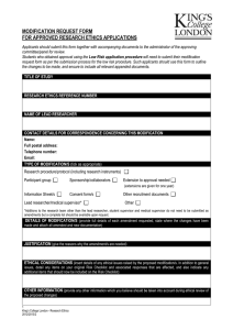 Modification Request Form Template