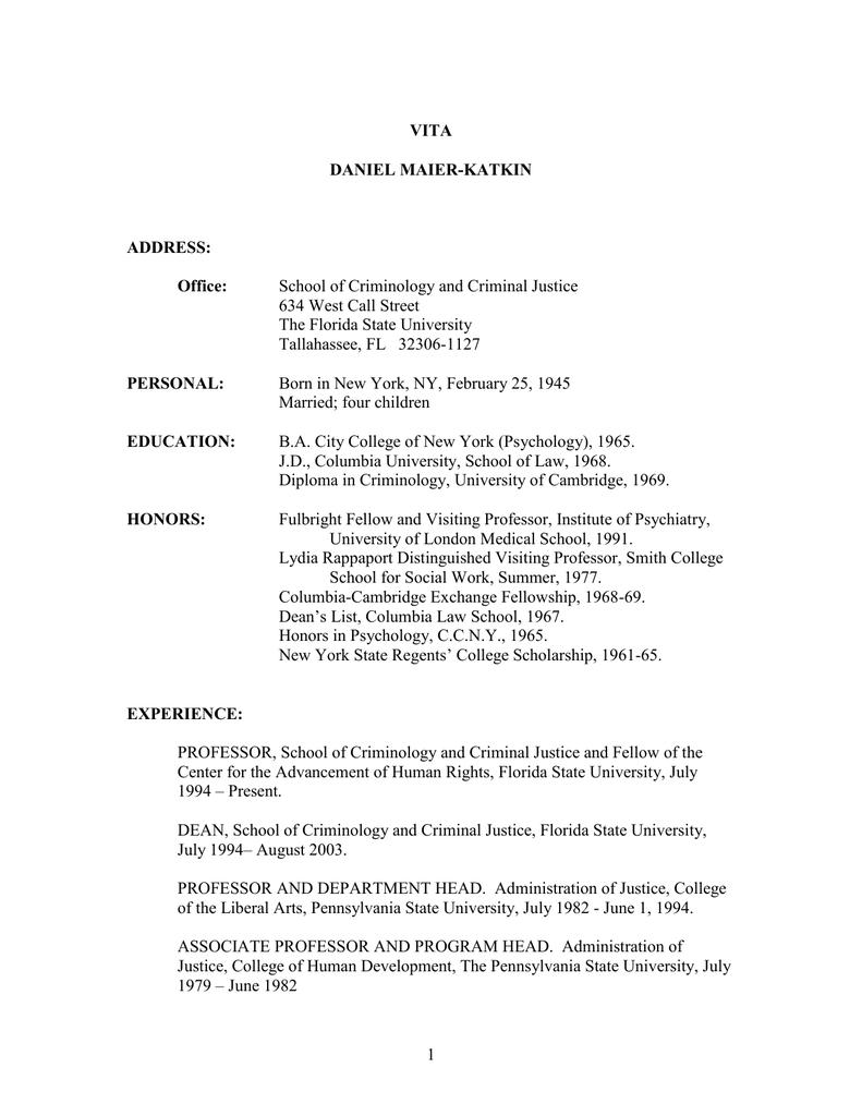 DOC: Maier-Katkin CV
