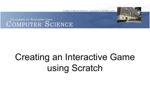 Creating an Interactive Game using Scratch