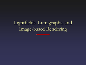 Lightfields, Lumigraphs, and Image-based Rendering