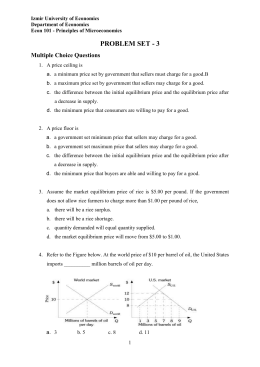 Principles of Microeconomics - 1001 Syllabus