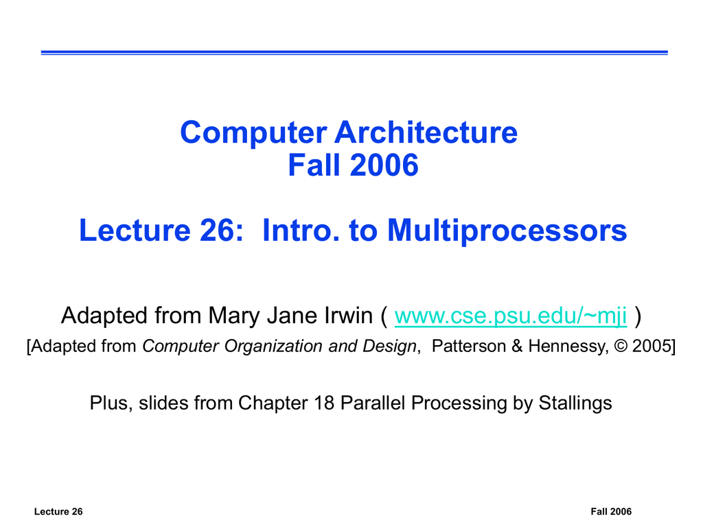 Multiprocessor Introduction PowerPoint