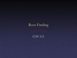 Root finding, 1-d*