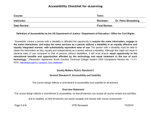 Accessibility Checklist for eLearning