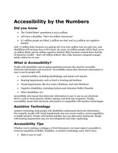 Accessibility by the Numbers Did you know