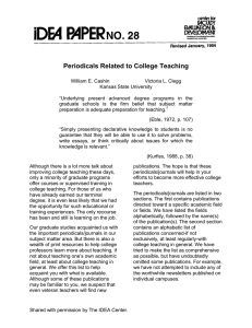 Periodicals Related to College Teaching
