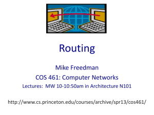 Routing Mike Freedman COS 461: Computer Networks