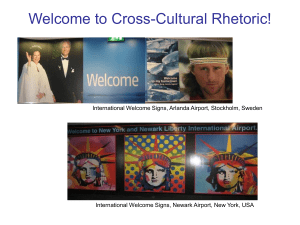 Welcome to Cross-Cultural Rhetoric!